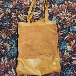 The Company Store Leather Tote Handbag